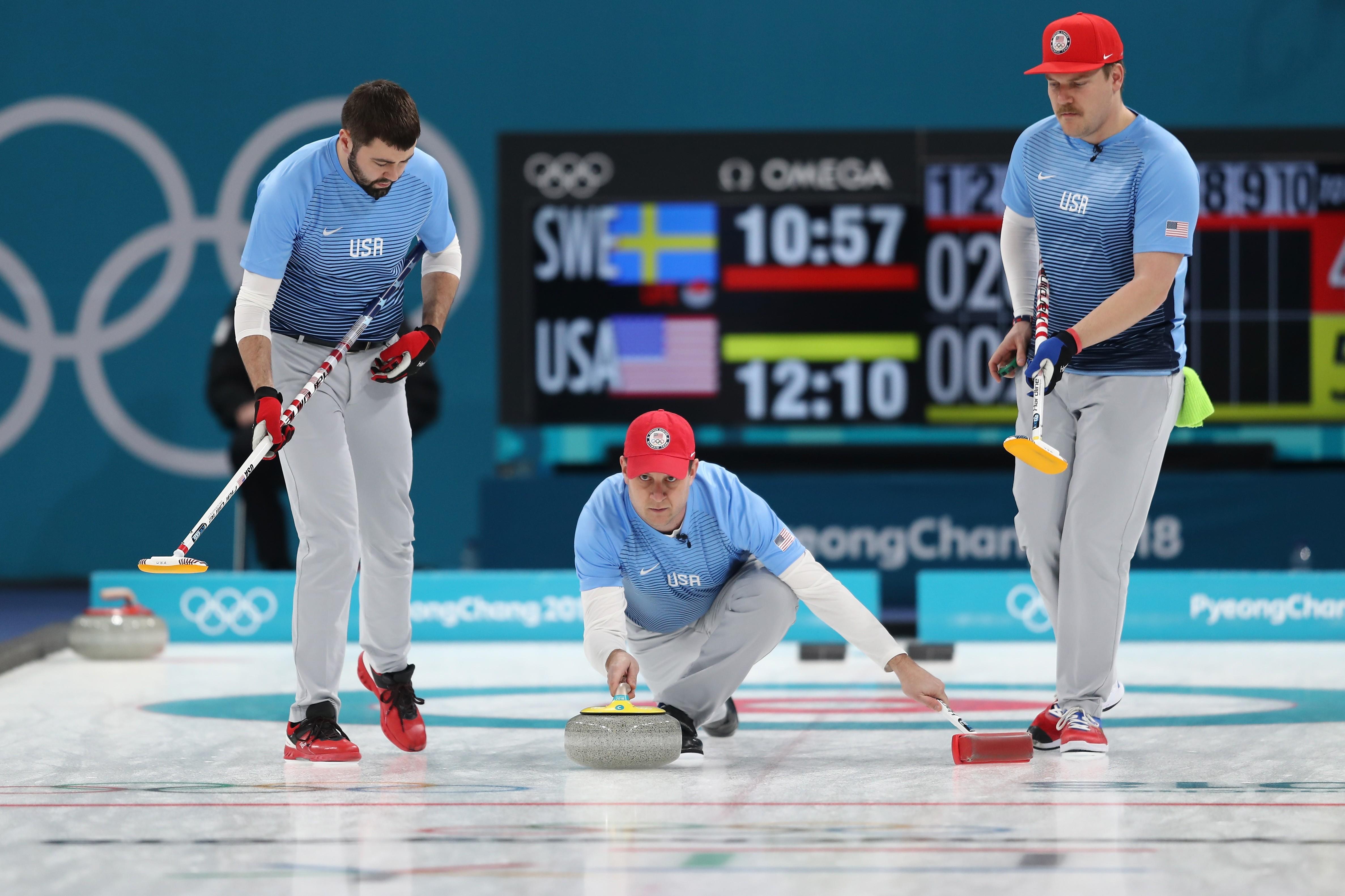 A equipe de curling dos EUA nas Olimpíadas de Inverno de 2018 (Foto: Getty Images)