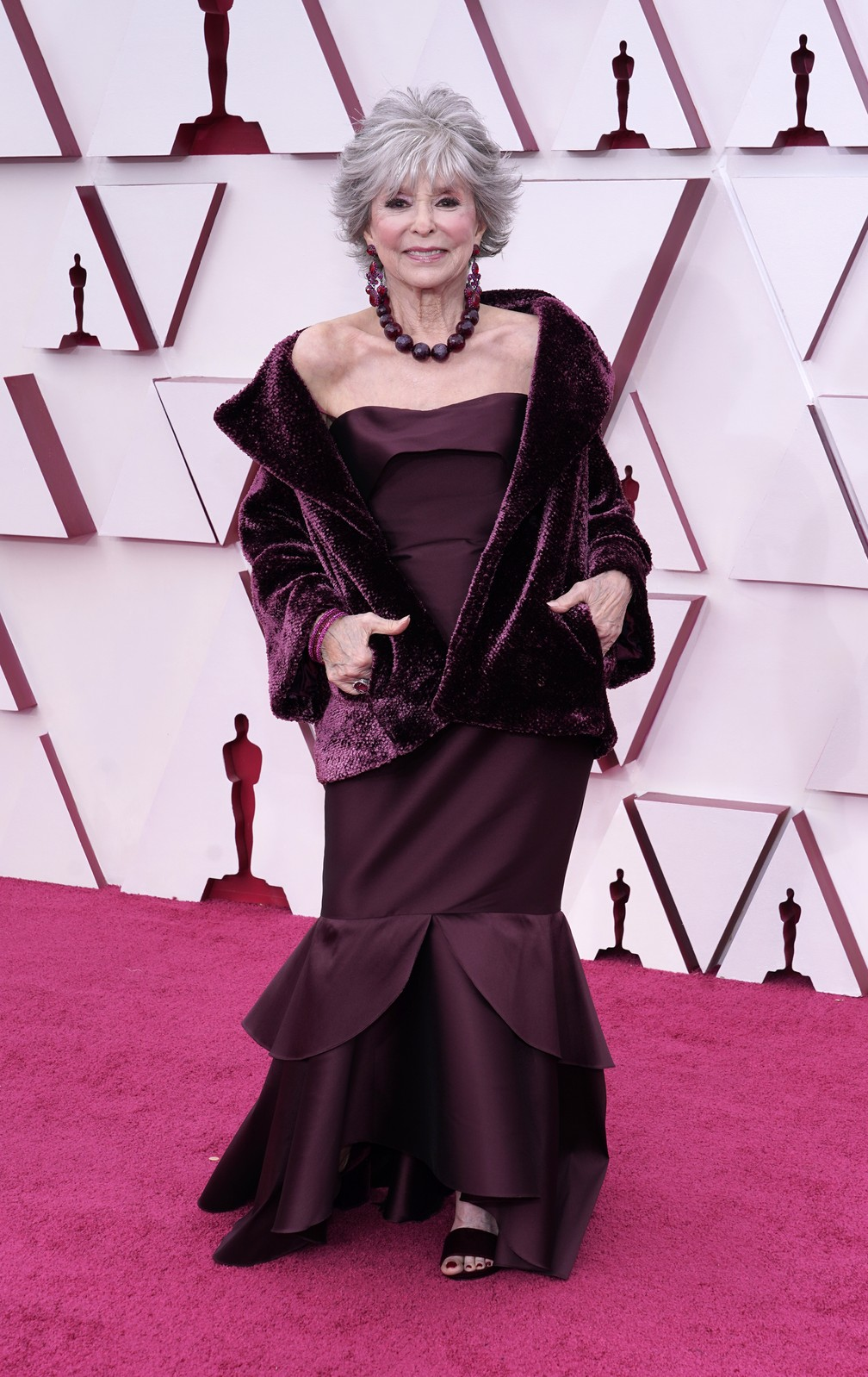 Rita Moreno no Oscar 2021 — Foto: AP Photo/Chris Pizzello