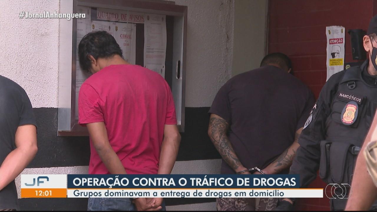 Polícia desfaz grupo que se especializou em entrega de drogas a domicílio em Goiânia