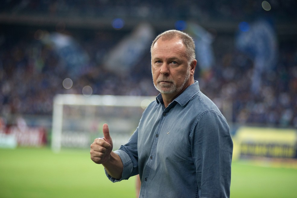 Mano Menezes, técnico do Cruzeiro, aprovou a atuação do Cruzeiro — Foto: Bruno Haddad/Cruzeiro