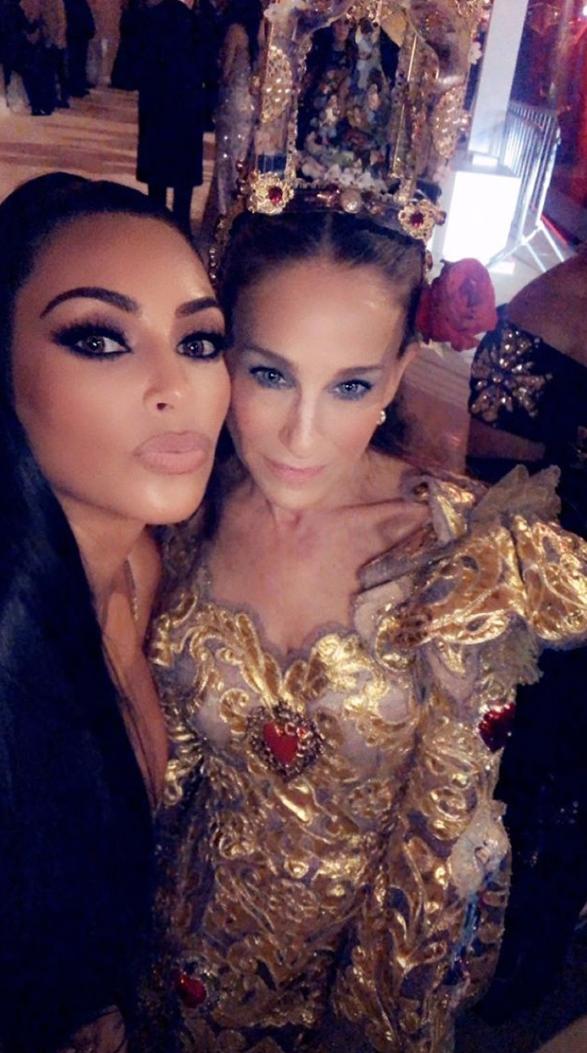 Kim Kardashian e Sarah Jessica Parker (Foto: Reprodução/Instagram)