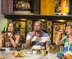 Roberta Sá, Diogo Nogueira e Anna Ratto no programa 'Samba na Gamboa' | Divulgação