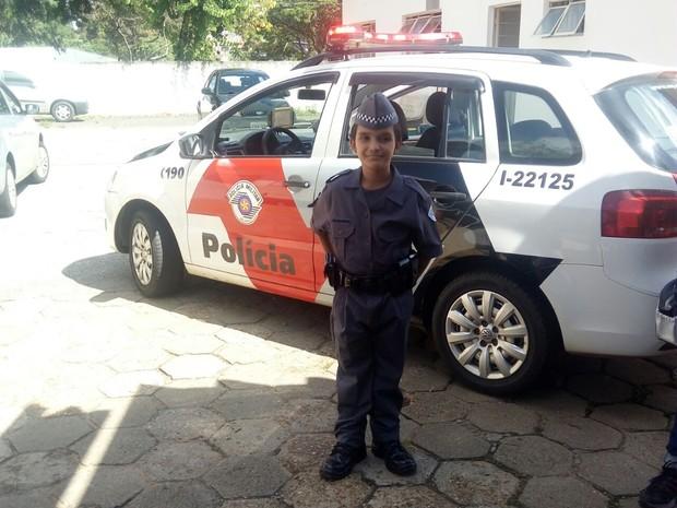 Quero ser policial para ajudar quem precisar, diz Otávio (Foto: Divulgação/Polícia Militar)