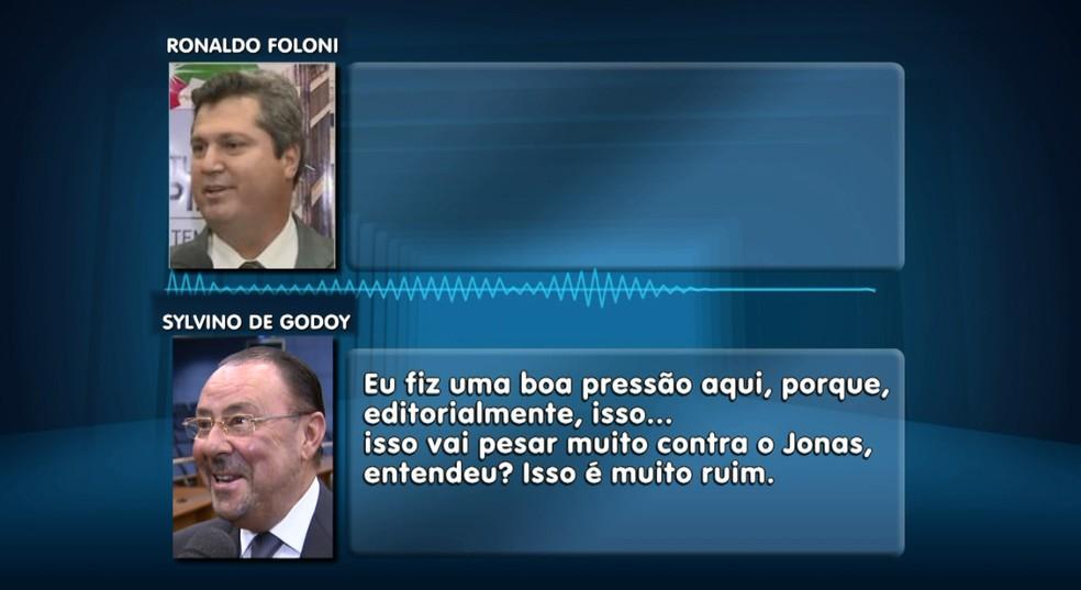 Trecho de diálogo entre Ronaldo Foloni, da Vitale, e Sylvino de Godoy (Foto: Reprodução/EPTV)