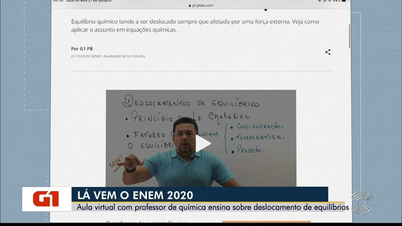 Lá Vem o Enem 2020: Confira videoaula sobre deslocamento de equilíbrio