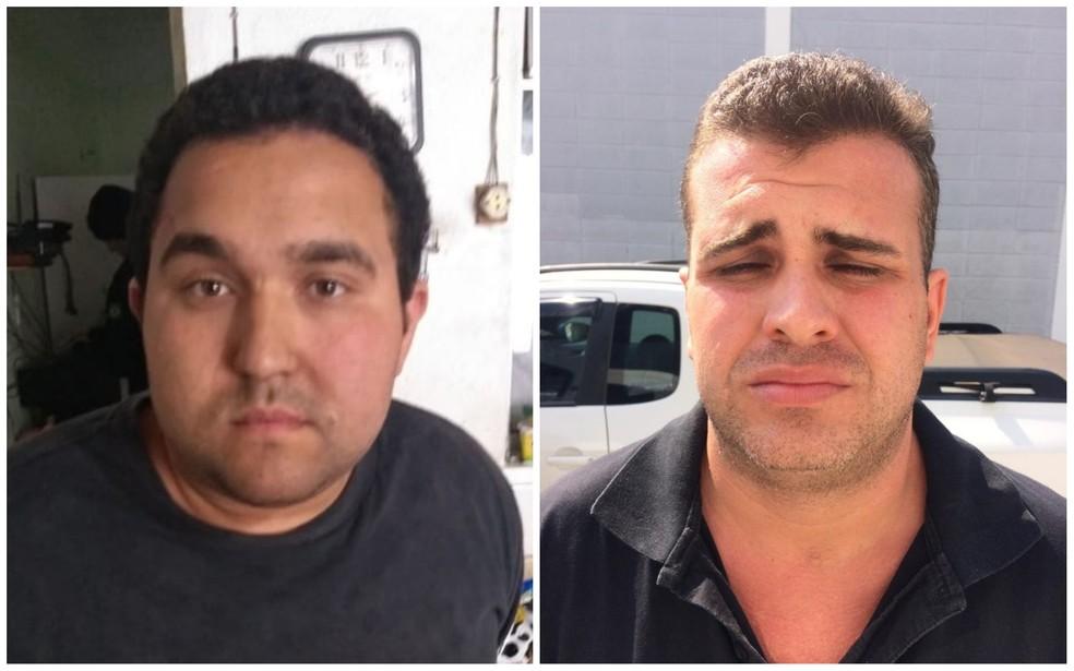 Leonardo (à esq) e Luiz Gustavo foram presos suspeitos de se passar por PMs para extorquir traficantes em Sorocaba — Foto: Polícia Civil/Divulgação