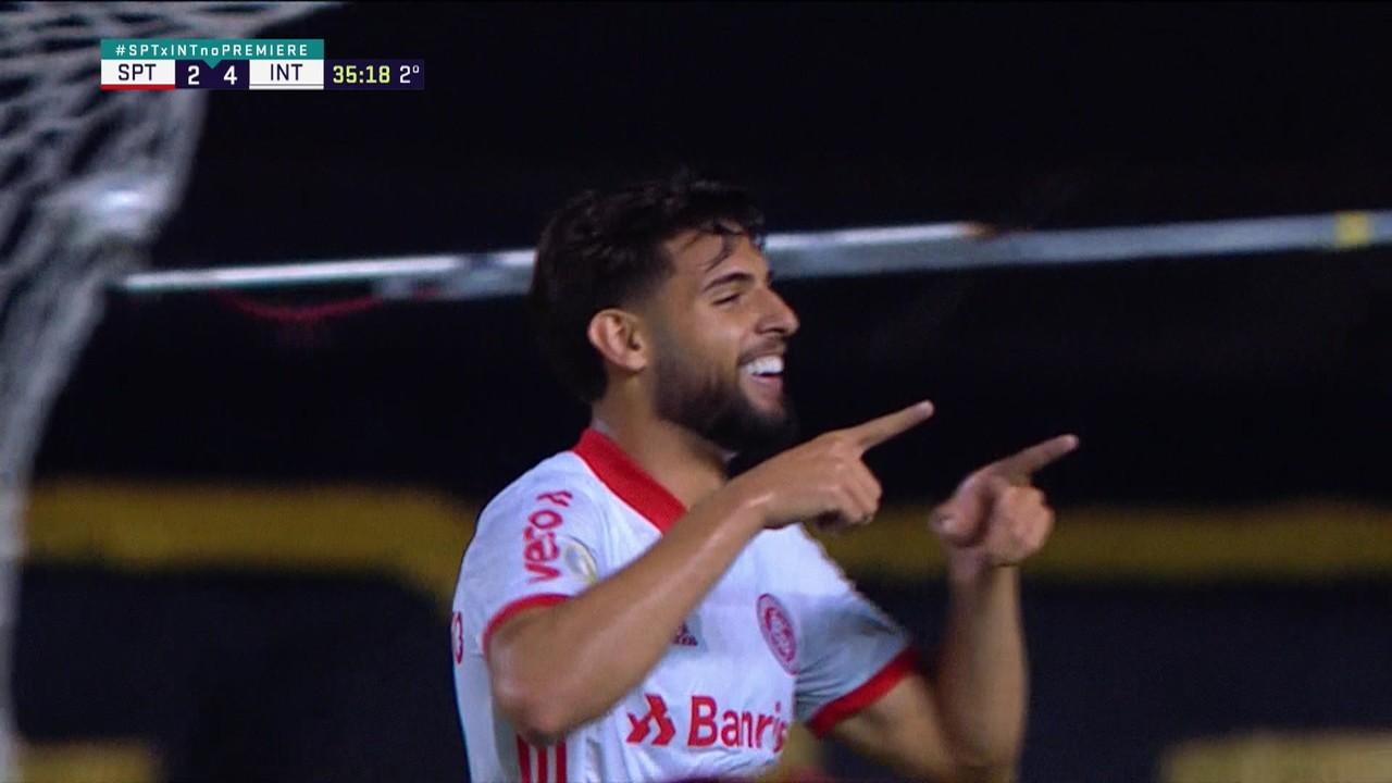 Yuri Alberto faz o quinto do Inter na goleada por 5 a 2 sobre o Sport, na 16ª rodada do Brasileirão