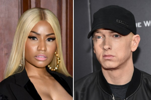 A cantora Nicki Minaj e o rapper Eminem (Foto: Getty Images)