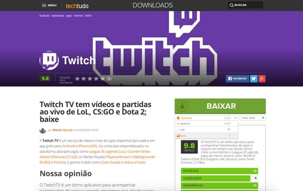 Twitch TV: como criar uma conta e alterar nome de usuário
