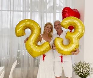 Ana Hickmann e Alexandrem Correa comemoram 23 anos de casamento | Reprodução