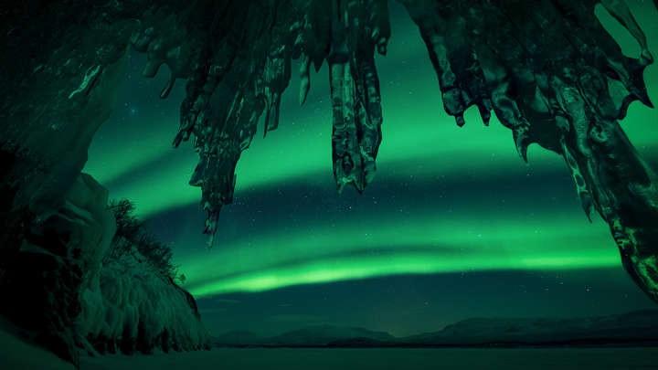 Imagem feita em uma caverna no lago sueco Torneträsk (Foto: Divulgação/Arild Heitmann)