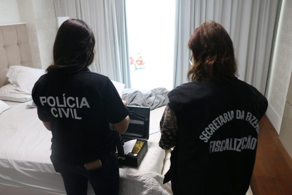 Esquema envolvia duas empresas do setor atacadista de alimentos — Foto: Divulgação/SSP-BA
