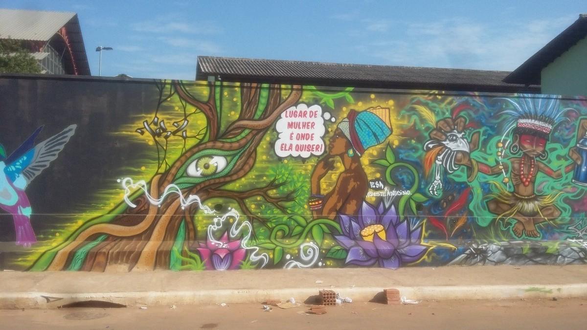 Para participar de festival internacional, grafiteiros do Acre fazem rifas para comprar passagens e viajar para BA