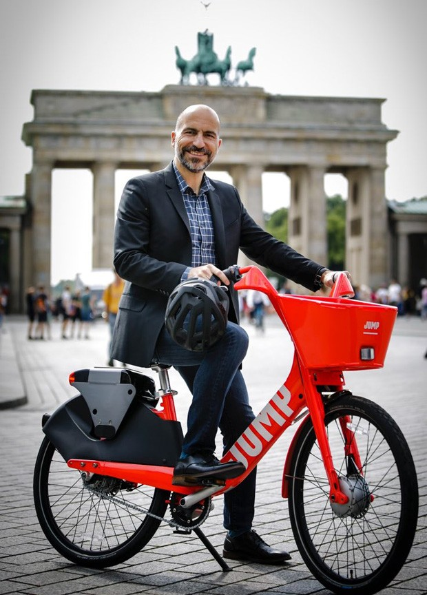 Uber Jump bicicleta, Dara Khosrowshahi (CEO) (Foto: divulgação)
