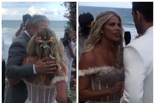 Karina Bacchi e Amaury Nunes se casam (Foto: Instagram)