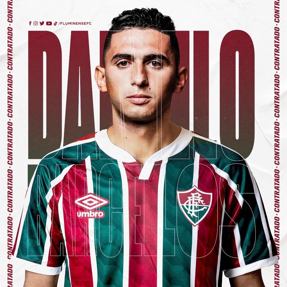 Anúncio Fluminense Danilo Barcelos — Foto: Divulgação