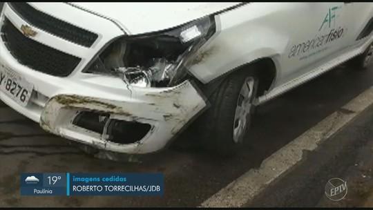 Suspeito é preso em Pedreira após série de batidas com veículos roubados