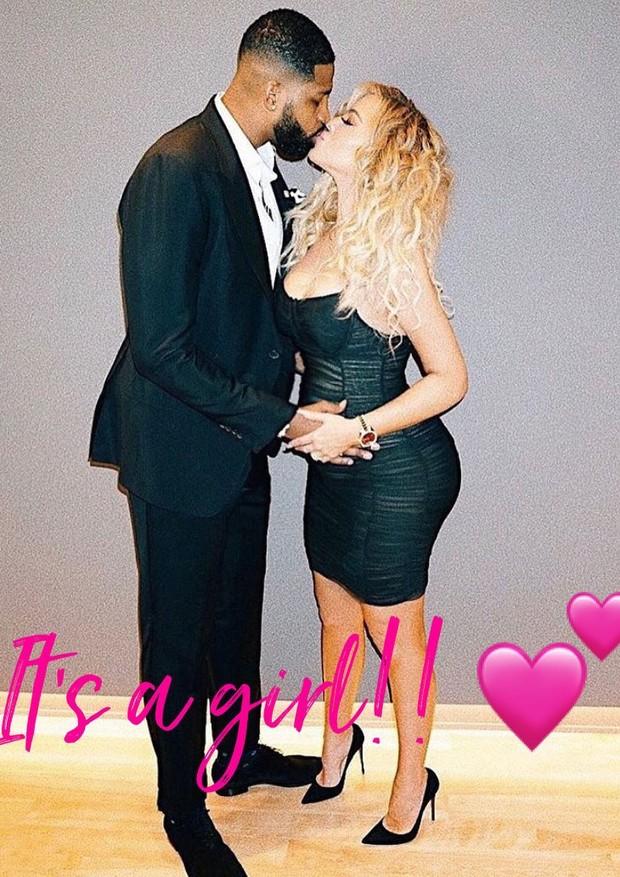 Khloé Kardashian está grávida de uma menina (Foto: Reprodução/Instagram)