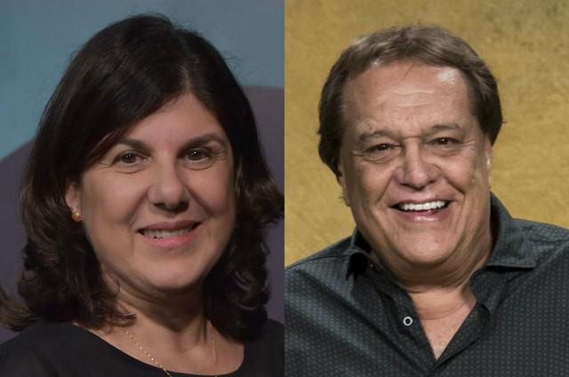 Maria Helena Nascimento e Dennis Carvalho (Foto: Mauricio Fidalgo e João Cotta/ TV Globo)