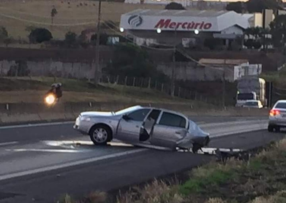 Motorista causou uma série de acidentes em Marília  — Foto: Rodrigo Inácio/ Arquivo pessoal