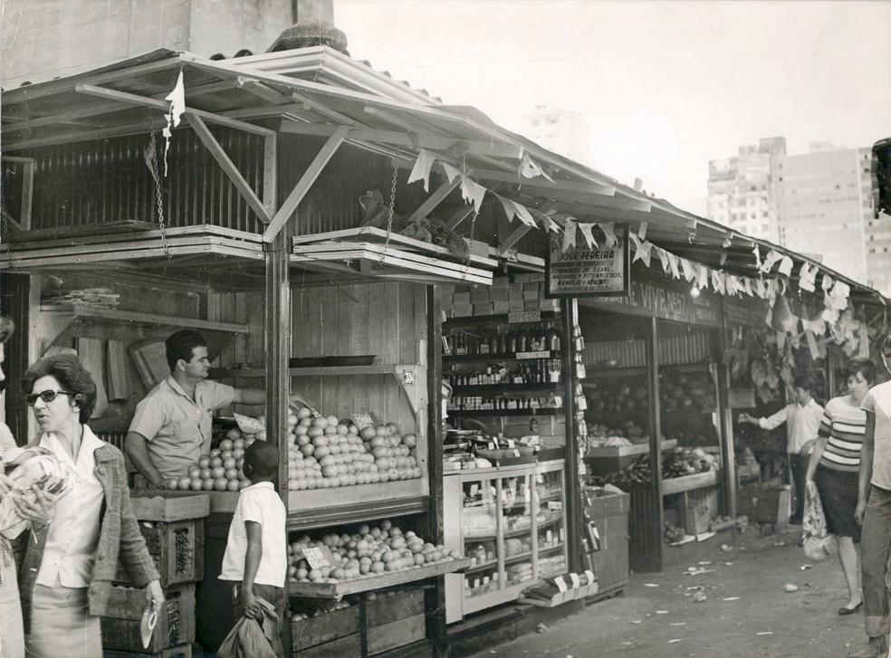 No início do Mercado Central, mais de 90% das bancas vendiam hortifrútis — Foto: Mercado Central de BH/Divulgação