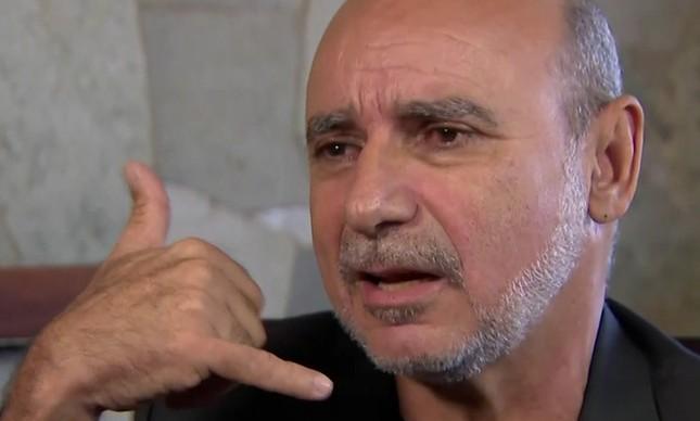 Fabrício Queiroz durante entrevista ao SBT, em 2018