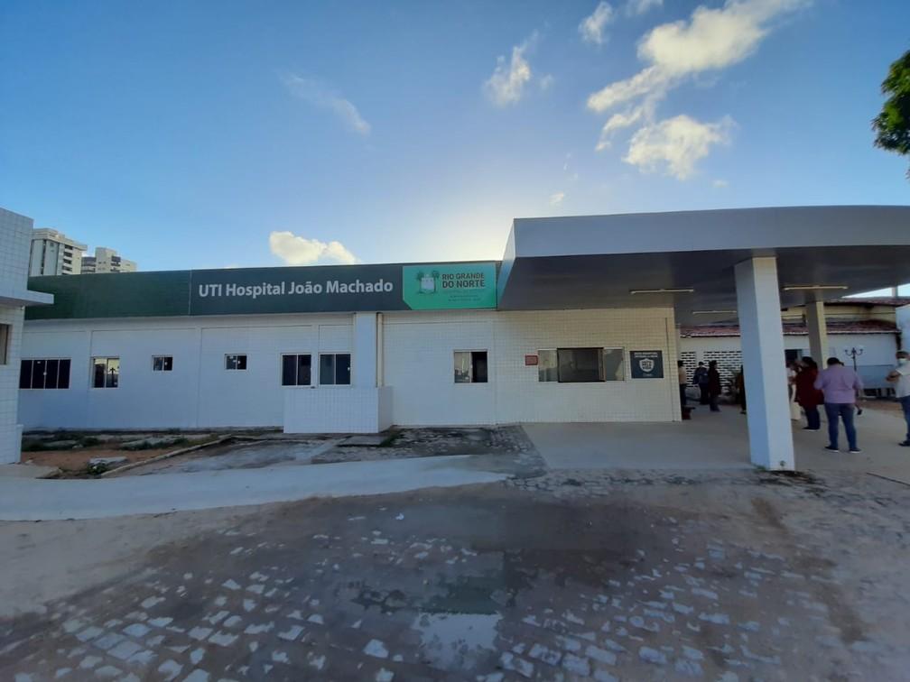 Hospital Colônia Dr. João Machado teve leitos de UTI revertidos — Foto: Divulgação/Sesap