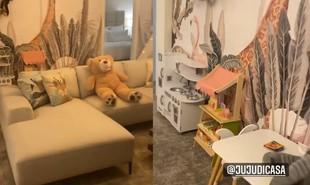 Quarto da casa em que Anitta está hospedada em Orlando | Reprodução