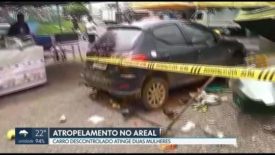 Carro desgovernado atropela duas mulheres no Areal, em Águas Claras