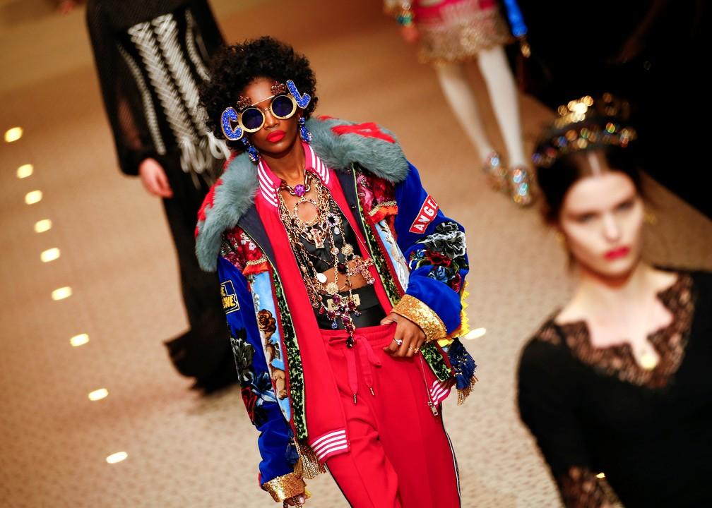 Coleção outono/inverno da Dolce e Gabbana (Foto: Tony Gentile/Reuters)