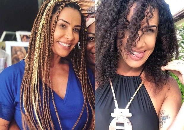 Scheila Carvalho: antes e depois (Foto: Reprodução/Instagram)