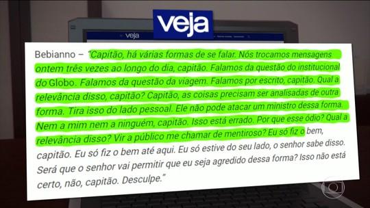 Confira as mensagens trocadas entre Bolsonaro e o ex-ministro Bebianno