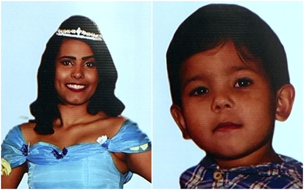 Ester Alves e Davi Lucas foram velados e enterrados em Santa Helena de Goiás (Foto: Reprodução/TV Anhanguera)