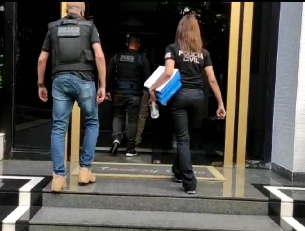 Operação da Polícia Civil na Bahia em investigação sobre irregularidades no Cruzeiro — Foto: Divulgação/ Polícia Civil