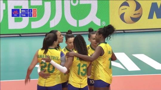 Brasil vence a Tailândia pela Liga das Nações de Vôlei