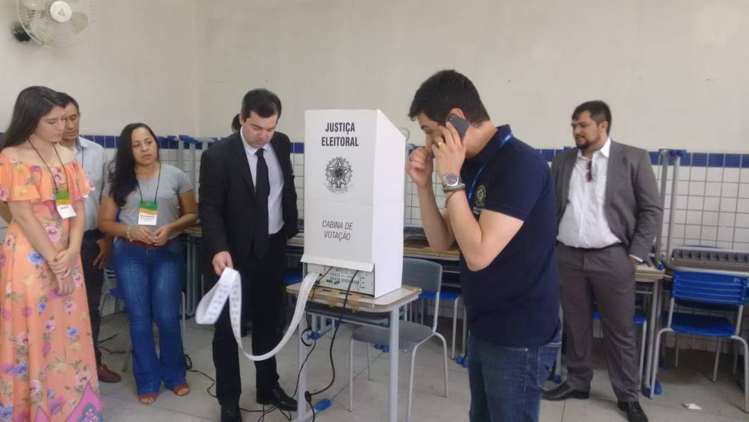 Em Caicó, RN, uma urna foi auditada após sorteio do TRE