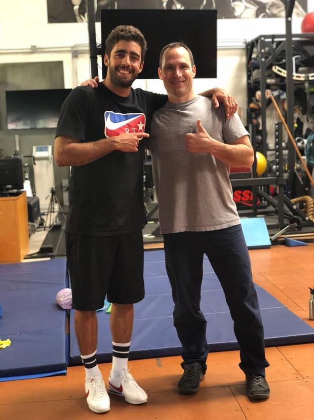 Pedro Scooby e o treinador de alta performance Tyler Jewells  (Foto: Divulgação)