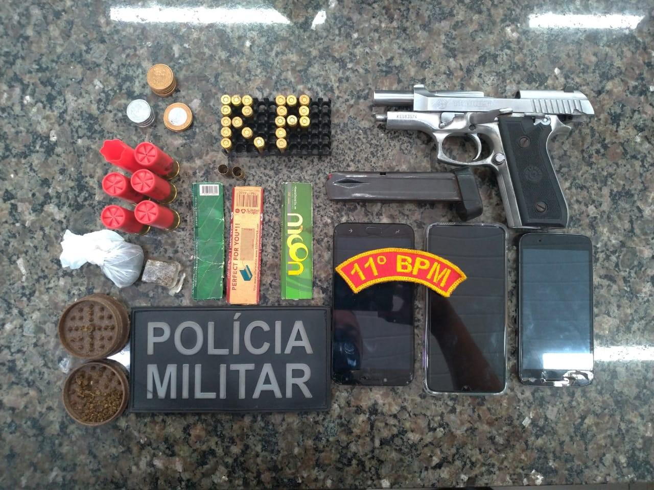 Suspeito de liderar facção no PI e MA é preso com carro roubado, droga e pistola