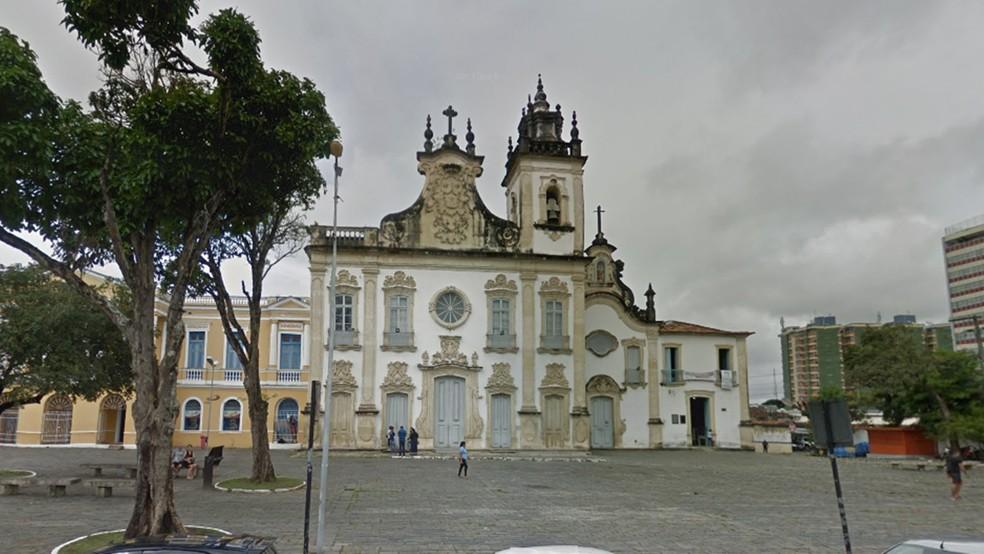 Igreja do Carmo, no Centro Histórico de João Pessoa — Foto: Reprodução/Google Street View