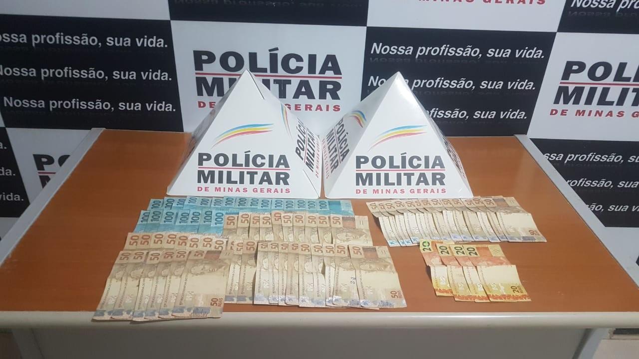 Dupla é detida após roubar mais de R$ 4 mil de idoso em Inhapim; dinheiro foi recuperado