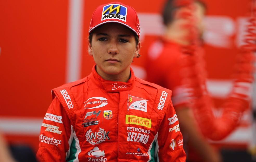 Enzo Fittipaldi, piloto da Academia da Ferrari, é neto de Emerson (Foto: Divulgação/Prema)