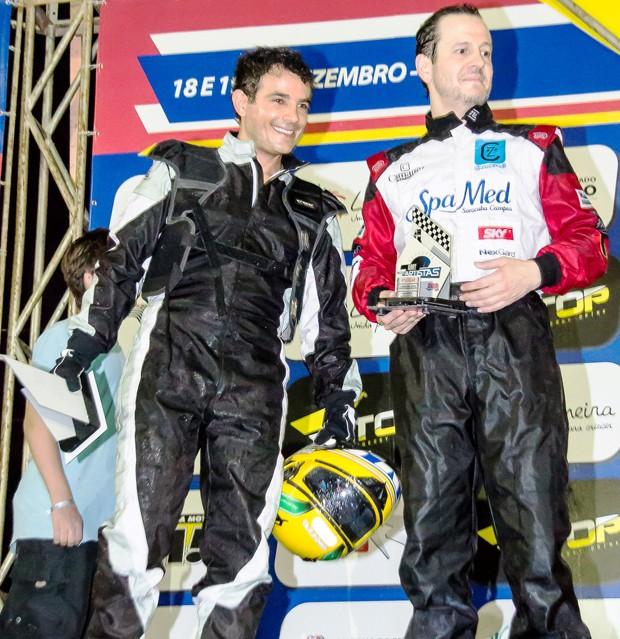 Anderson Di Rizzi e Celso Zucatelli celebram seus resultados (Foto: Divulgação)