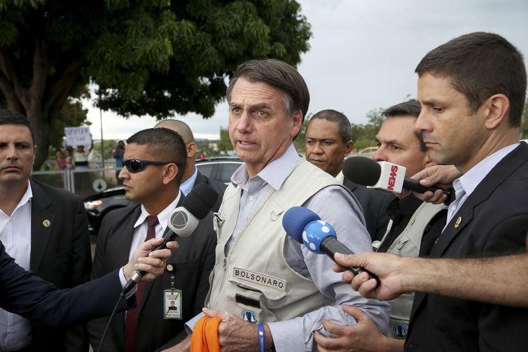 Presidente Jair Bolsonaro fala sobre a tragédia em Brumadinho. (Foto:  Wilson Dias/Agência Brasil)