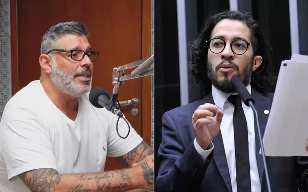 Alexandre Frota (PSL-SP) e Jean Wyllys (PSOL-RJ) — Foto: Reprodução e Luis Macedo/Câmara dos Deputados