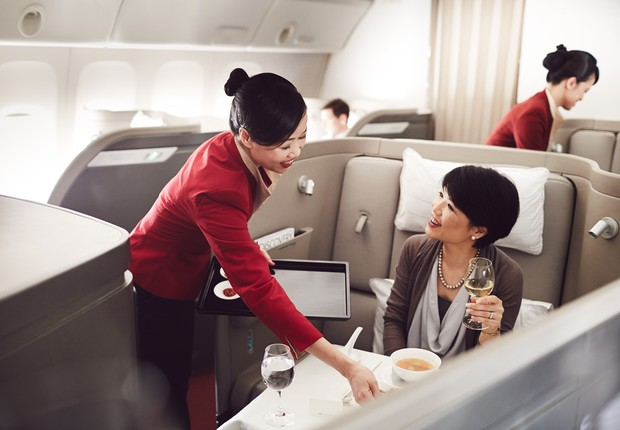Cabine de primeira classe da Cathay Pacific Airways (Foto: Cathay Pacific Airways/Divulgação)
