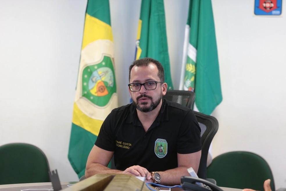 André Costa é exonerado de cargo de secretário da Segurança do Ceará. — Foto: José Leomar/ SVM