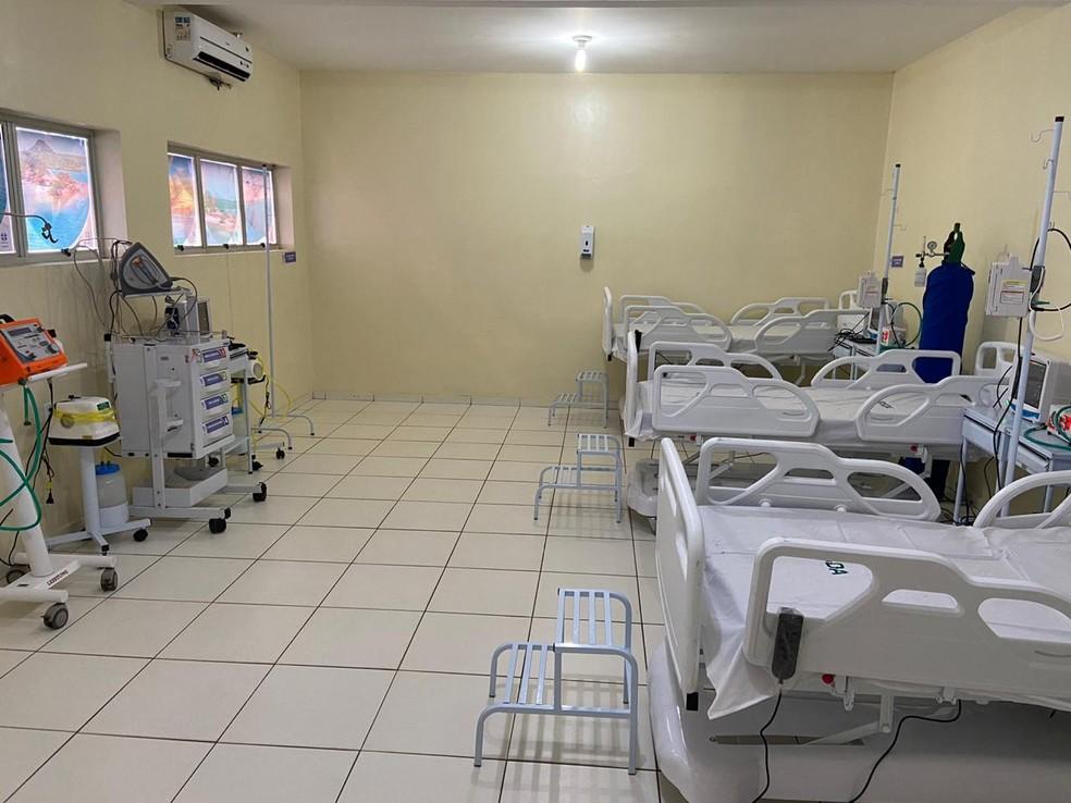 Setor para atendimento de pacientes com Covid-19 no Piauí — Foto: Divulgação/Sesapi