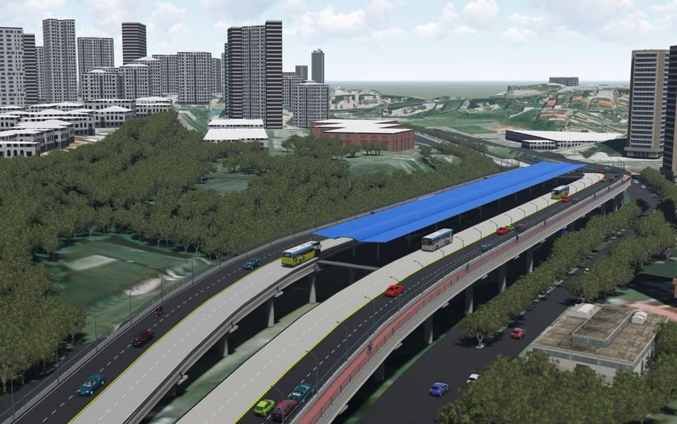 Projeto do BRT em Salvador (Foto: Divulgação)