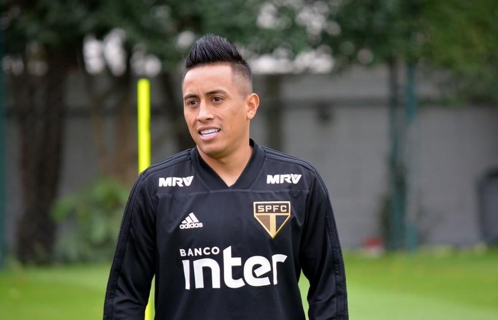 Cueva não teve bons momentos pelo São Paulo em 2018 — Foto: Érico Leonan / saopaulofc.net