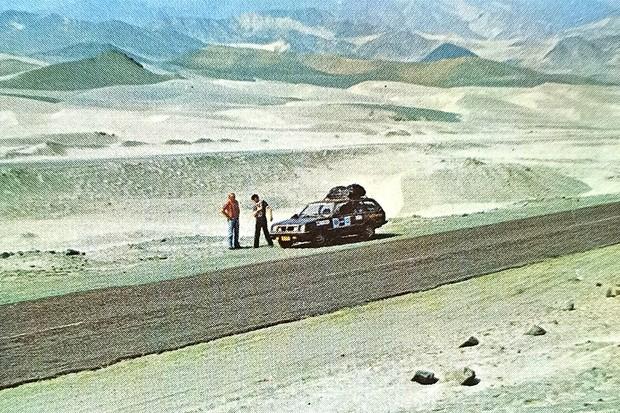 No Peru, o aspecto desértico parecia até um cenário alienígena (Foto: Acervo MIAU)